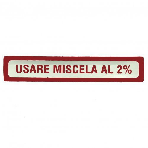 ADESIVO VESPA USARE MISCELA 2% PICCOLO