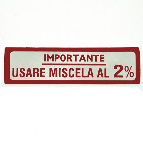 ADESIVO VESPA USARE MISCELA 2% GRANDE