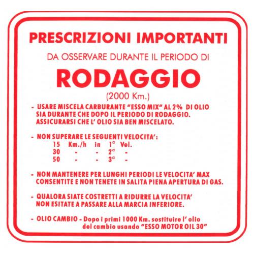 ADESIVO RODAGGIO VESPA MISCELA AL 2 3 MARCE