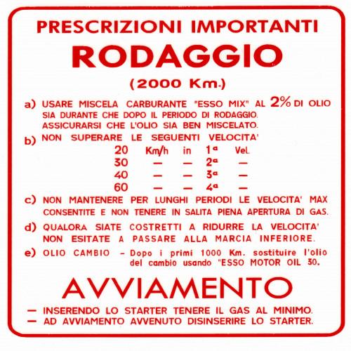 ADESIVO RODAGGIO VESPA MISCELA AL 2 4 MARCE