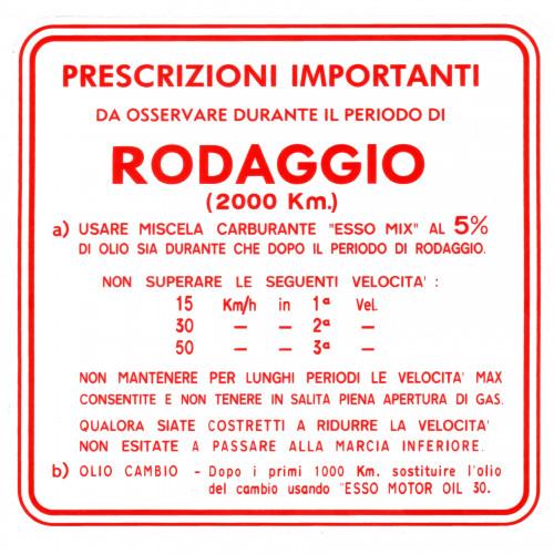 ADESIVO RODAGGIO VESPA MISCELA AL 5 3 MARCE