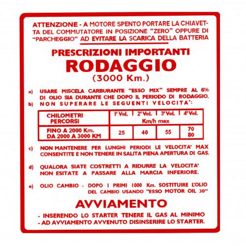 ADESIVO RODAGGIO VESPA MISCELA AL 5 4 MARCE