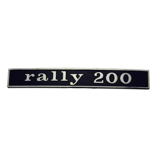 """SCRITTA VESPA POSTERIORE """"RALLY 200"""""""