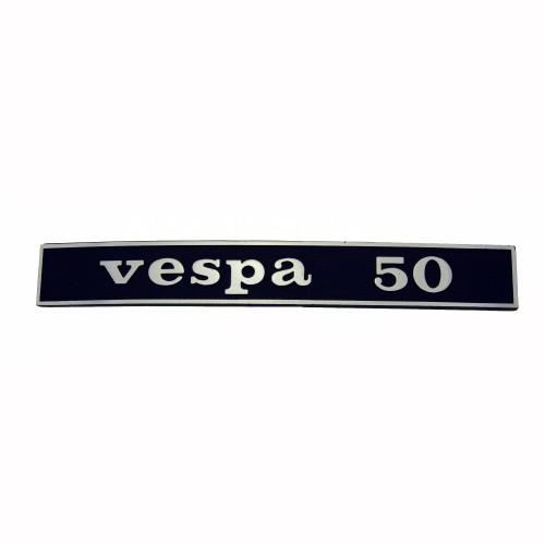"""SCRITTA VESPA POSTERIORE """"VESPA 50"""""""